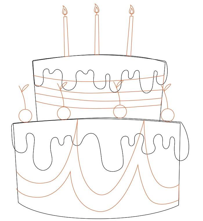 торт карандашом картинка дизайнеры создали