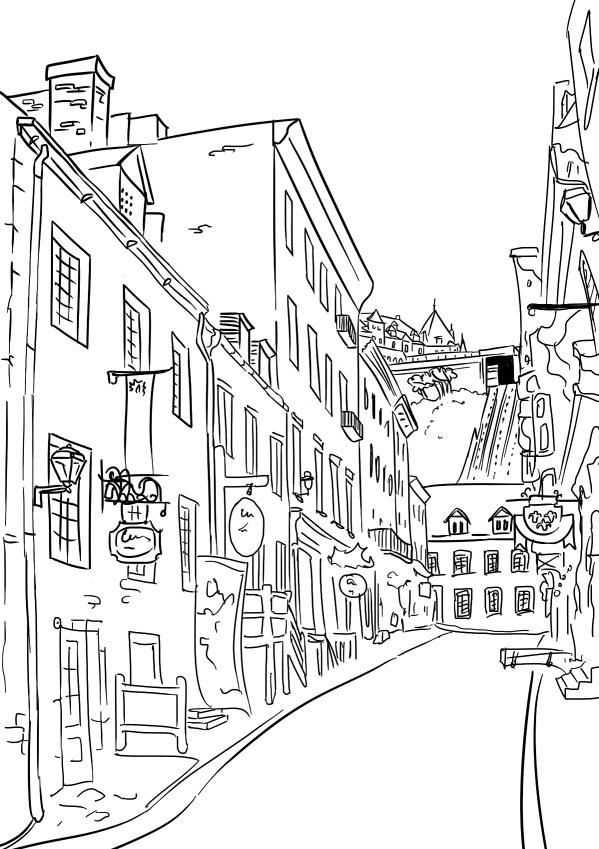 Картинки улиц раскраска