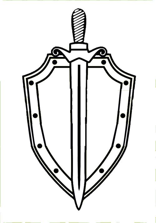 щит и меч картинка черно белая велосипеды