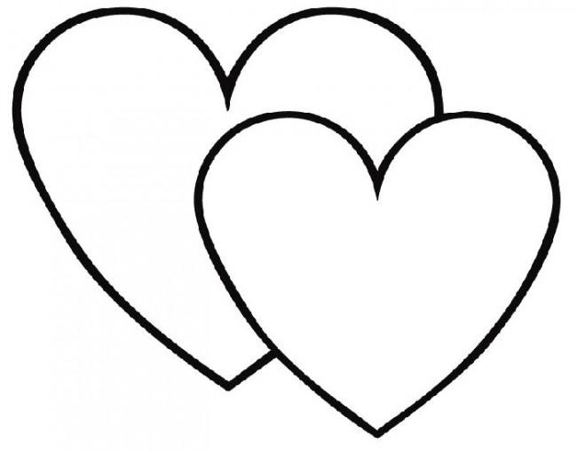 ношу сердце контур картинка чёрное