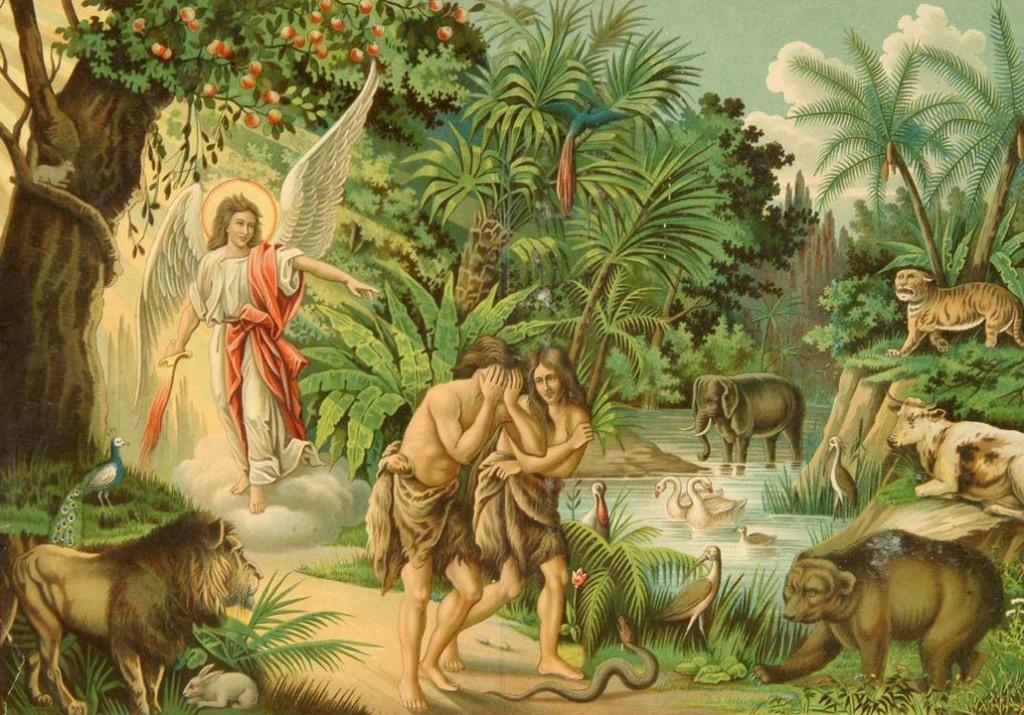 Картинки грехопадения адама и евы в раю