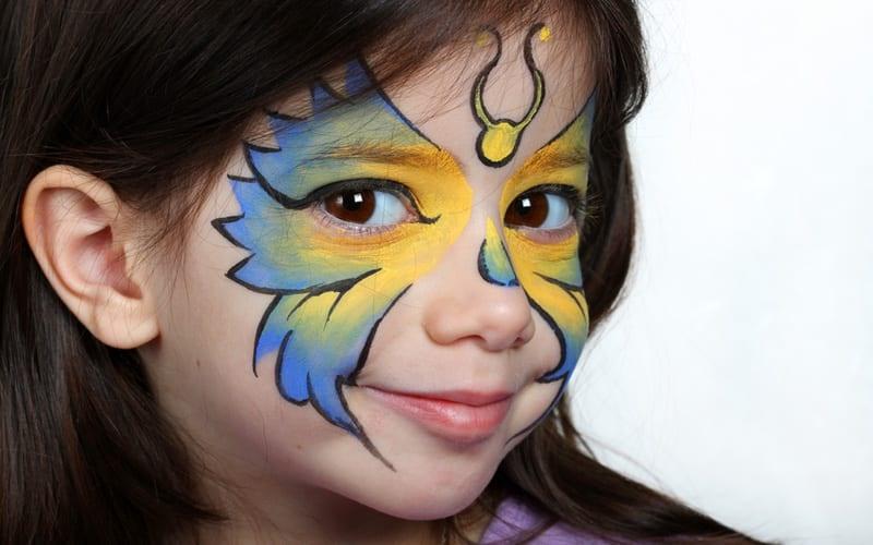 рисунки красками на лице картинки