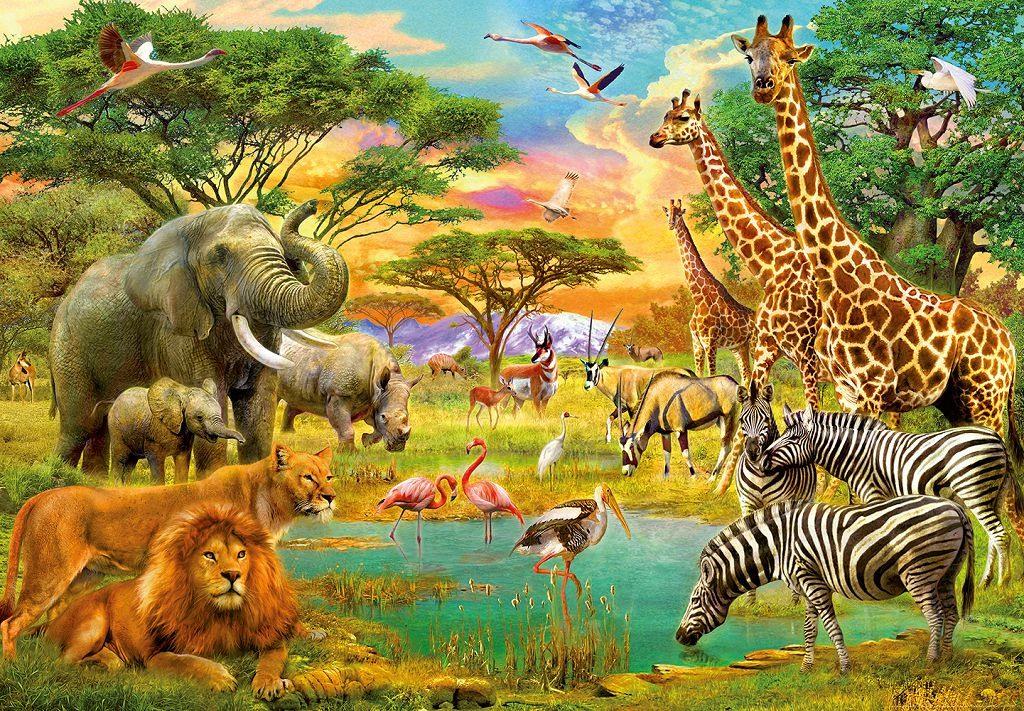 знаю животный мир африки картинки для презентации остались