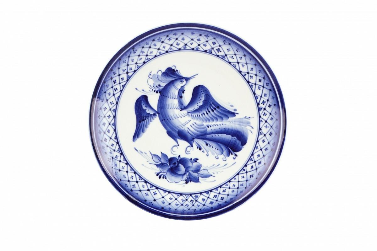 Роспись тарелки гжель картинка